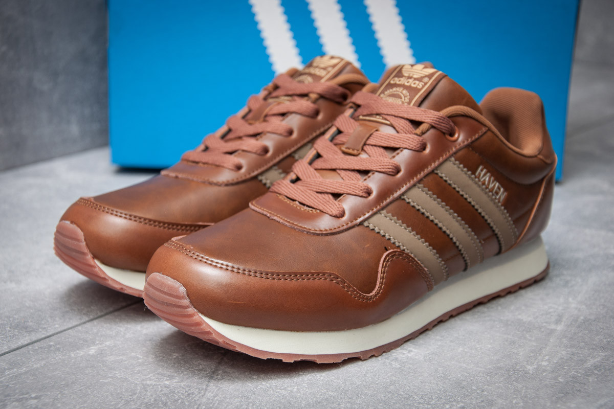 Кроссовки мужские  в стиле Adidas  Haven, коричневые (12013) [  44 46  ]