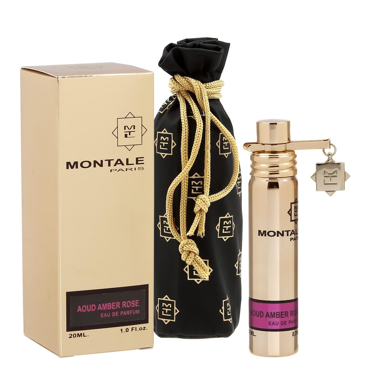 Парфюмированная вода с феромонами унисекс Montale Aoud Amber Rose,20 мл