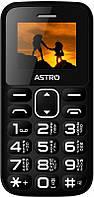 "Мобильный телефон Astro A185 Dual Sim Black; 1.77"" (220х176) TN / клавиатурный моноблок / MediaTek MTK6261D / ОЗУ 32 МБ / 32 МБ встроенной + microSD"