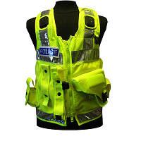 Поліцейський розвантажувальний жилет c кобурою для Taser (сітчаста основа). Великобританія, оригінал.