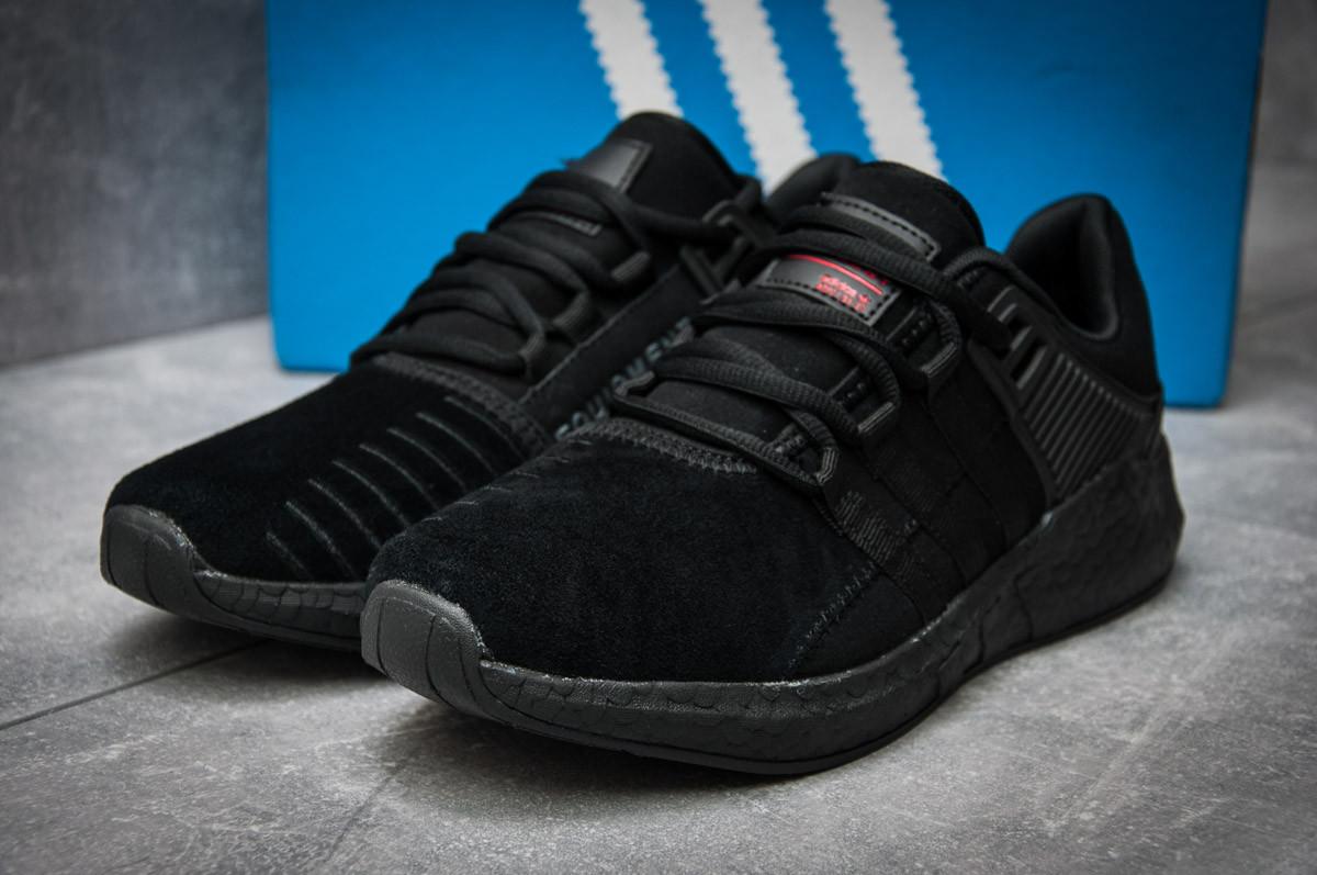 Кроссовки мужские  в стиле Adidas  EQT ADV/91-17, черные (12164) [  44 (последняя пара)  ]
