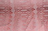 Ткань макраме персик . (направление рисунка по долевой) 1,32 см, фото 1