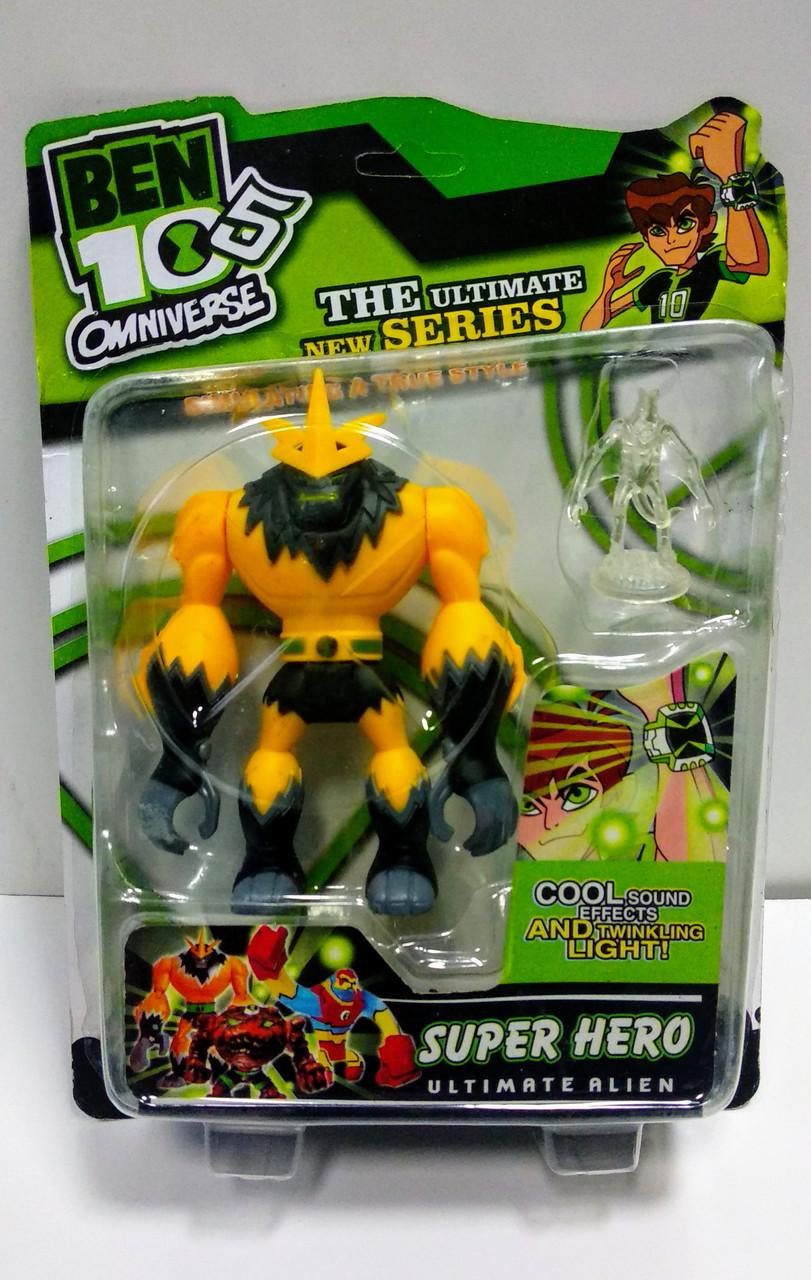 Коллекционная фигурка Шокс- квоч супергерой Бен 10 - Shocksquash, Superhero, Ben 10, Omniverse, Playmates