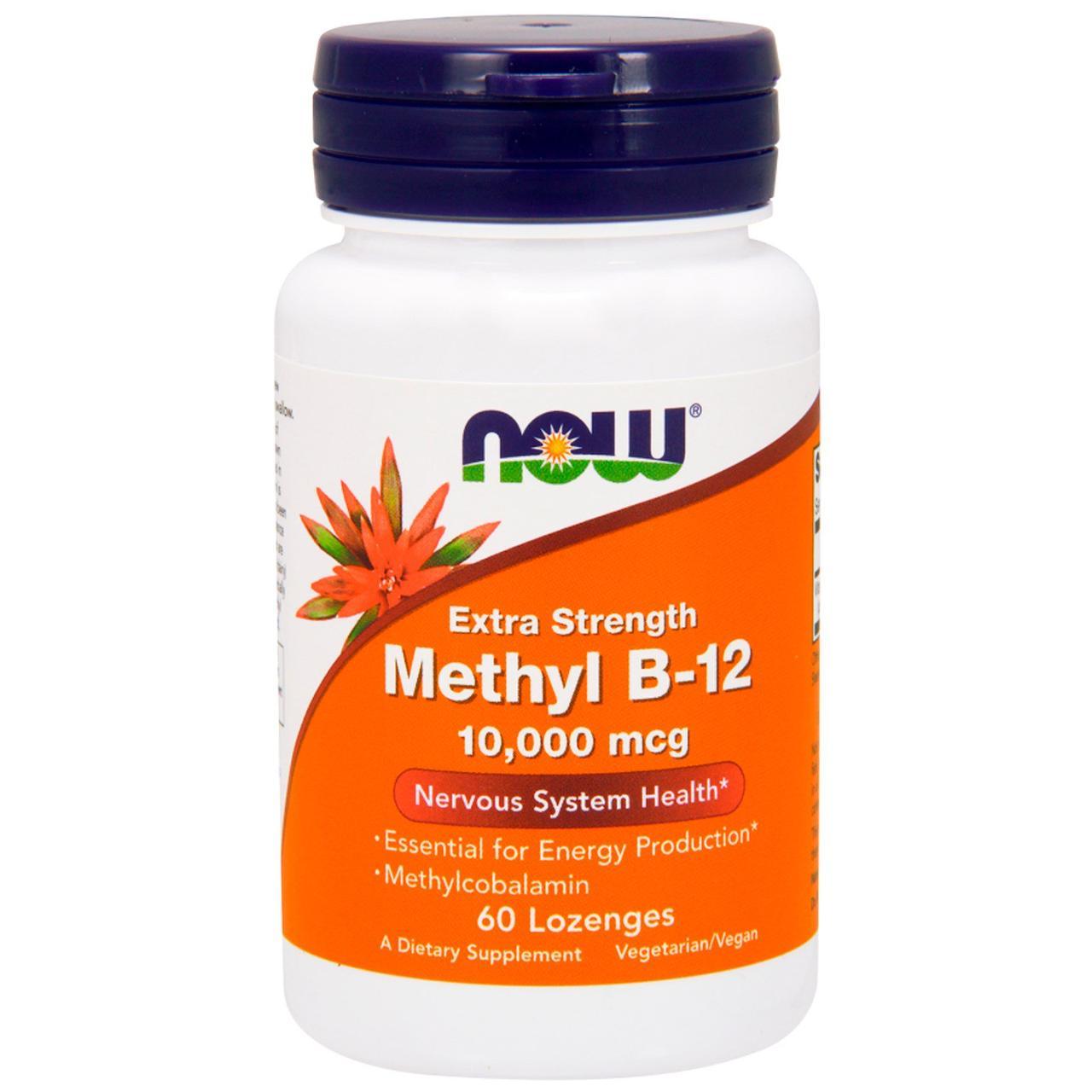 Метил В-12 (Methyl B12)(10,000 мкг) 60 леденцов, фото 1