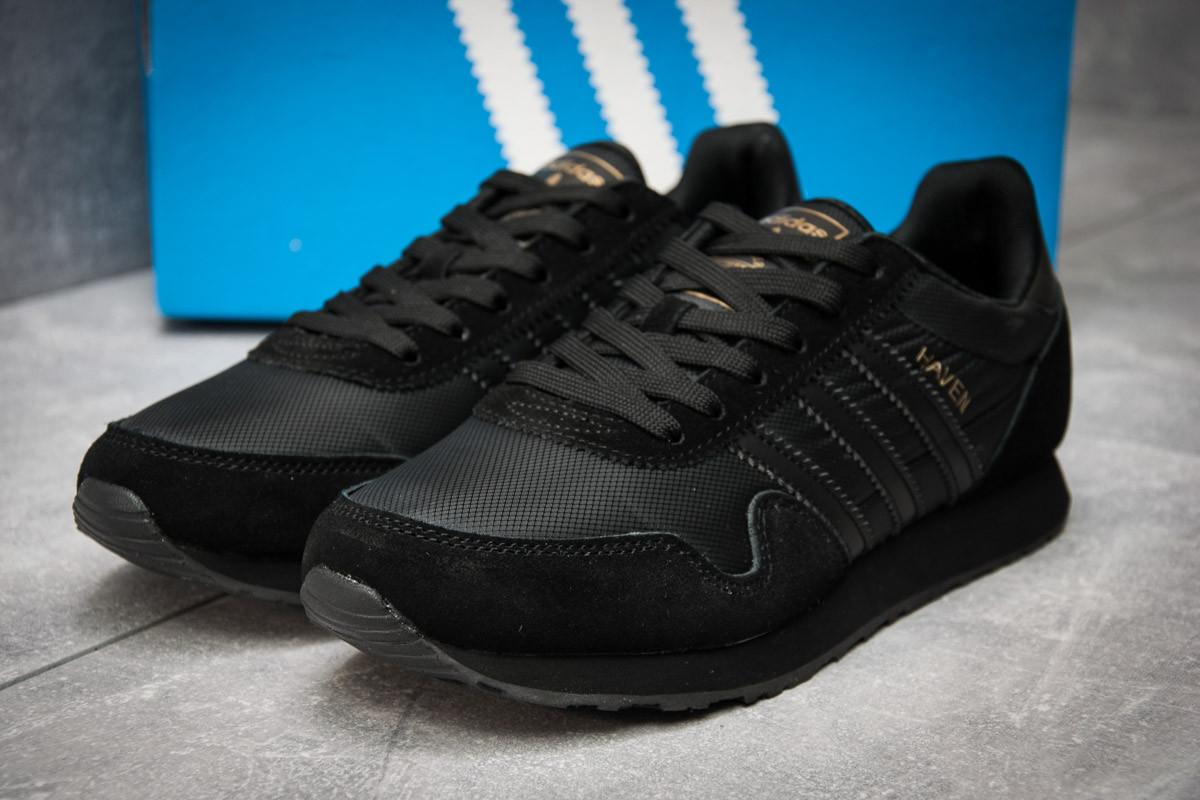Кроссовки мужские  в стиле Adidas  Haven, черные (12322) [  46 (последняя пара)  ]