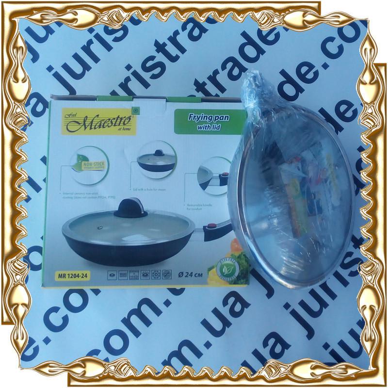 Сковорода Maestro Ceramic MR-1204-28 відстібний к. ручка.