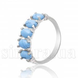 Серебряное кольцо с бирюзой 3008