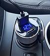 Автомобильное зарядное 2хUSB + тестер напряжения (вольтметр) + выходной ток, фото 7