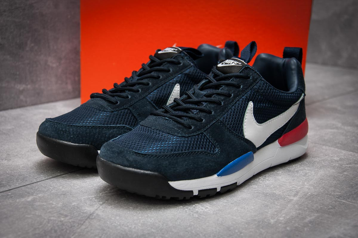 Кроссовки мужские  в стиле Nike, темно-синие (12583) [  44 45  ]