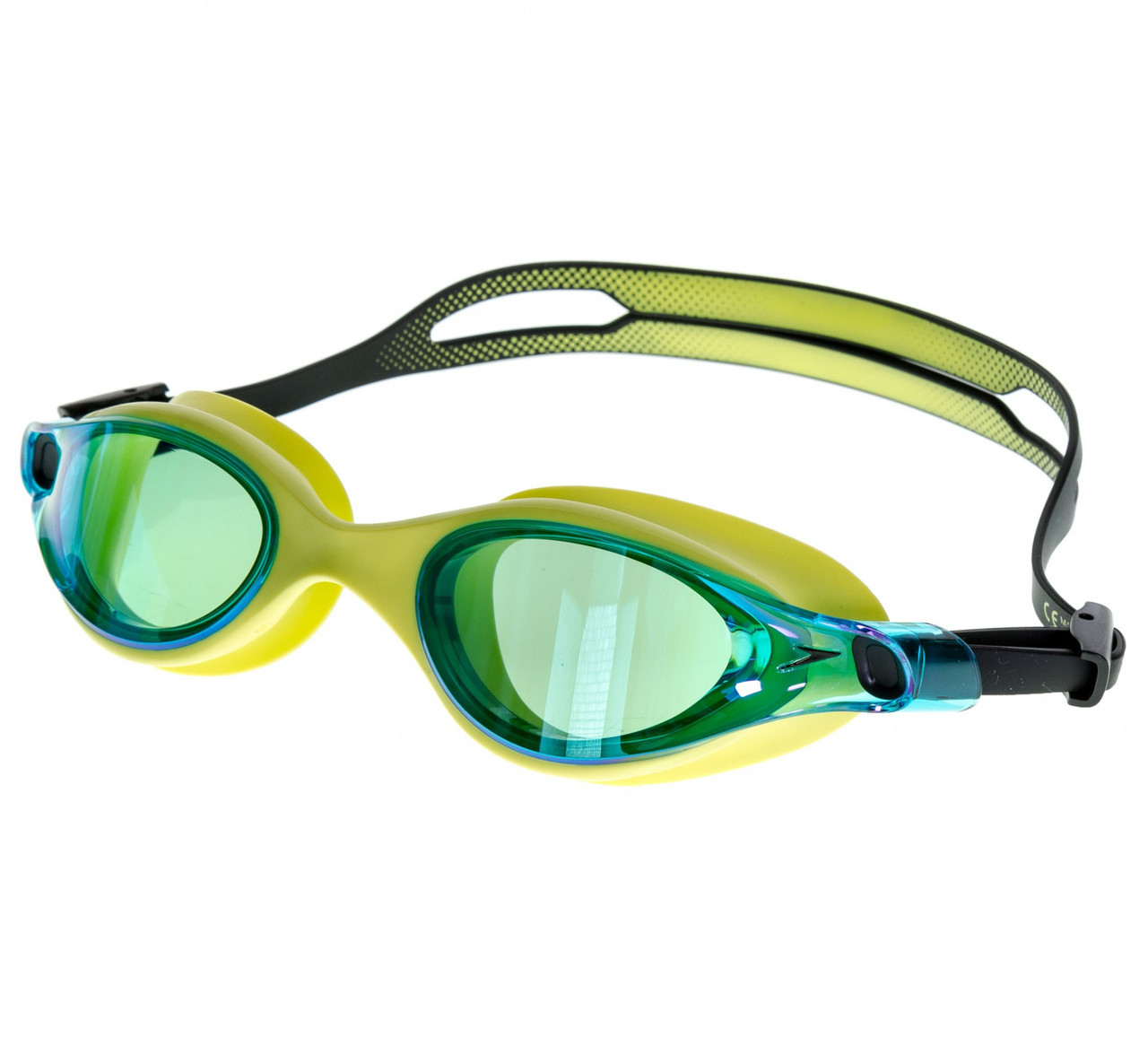 Очки для плавания Speedo vue mirror gog au green/blue (MD)