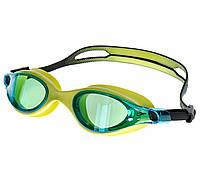 Очки для плавания Speedo vue mirror gog au green/blue (MD), фото 1