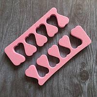 Разделитель для пальцев ног (цвета в ассортименте), пара 2 штуки