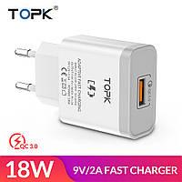 Блок питания для быстрой зарядки TOPK Quick Charge 3.0