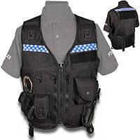 Поліцейський розвантажувальний жилет (сітчаста основа), чорний. Великобританія, оригінал.