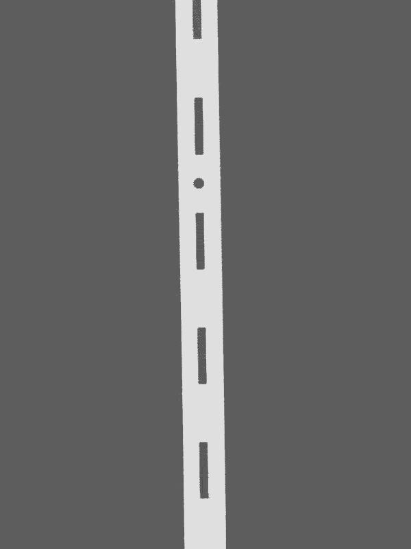 Перфопрофиль (рейка) белый одинарный