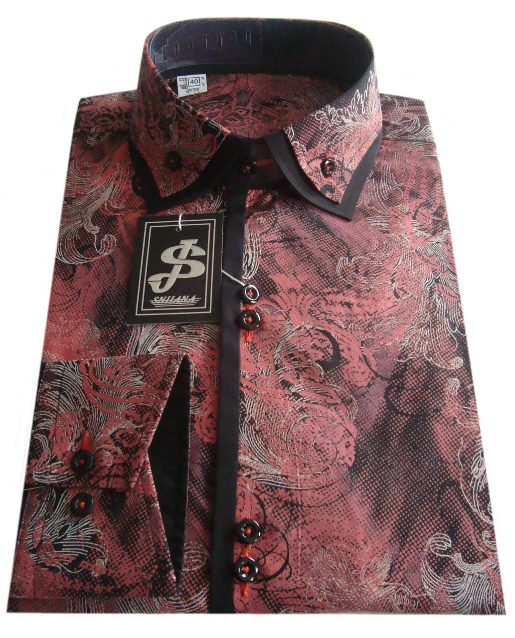 18416527957 Рубашка мужская приталенная с узором №10 165 - 3526 2+ч  продажа ...