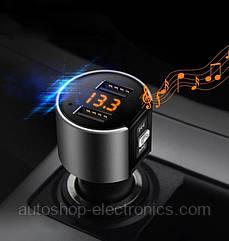 Mini Bluetooth ФМ модулятор / Громкая связь / Вольтметр / Зарядное USB
