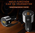Mini Bluetooth ФМ модулятор / Громкая связь / Вольтметр / Зарядное USB, фото 2