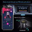 Mini Bluetooth ФМ модулятор / Громкая связь / Вольтметр / Зарядное USB, фото 3