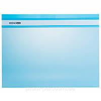 Скоросшиватель для бумаги  Economix голубой 31511-11