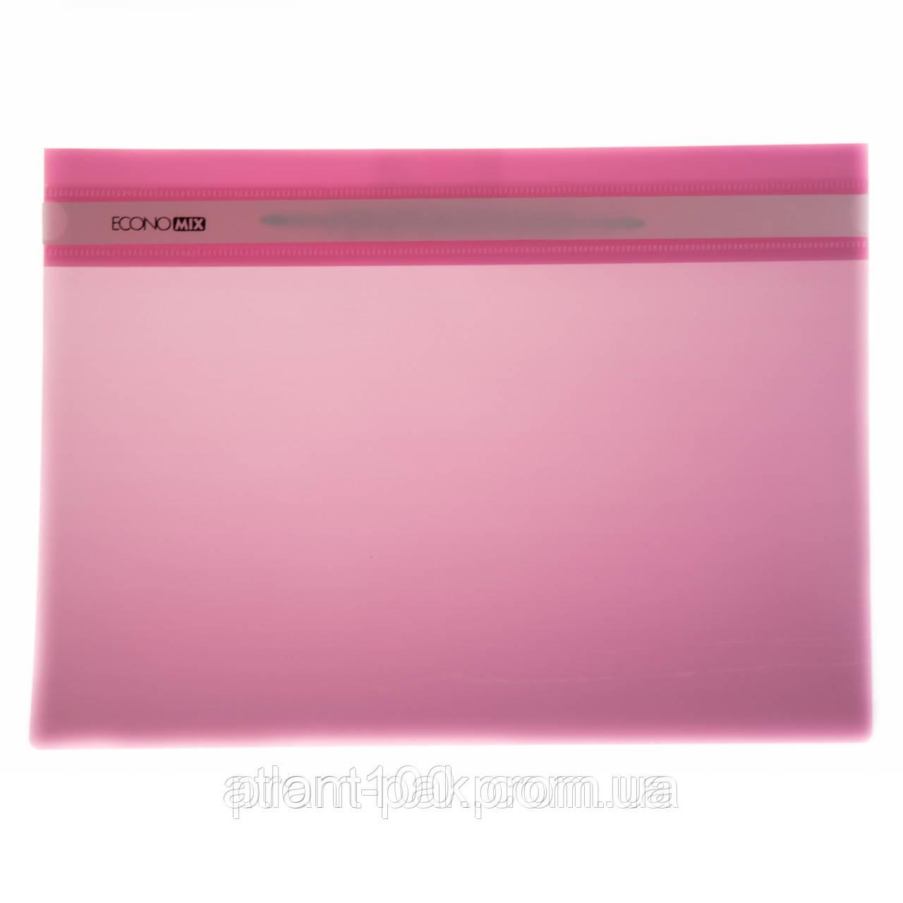 Скоросшиватель пластиковый а4 Economix  31511-09 розовый