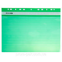 Горизонтальный скоросшиватель для файлов с перфорацией  Buromax цвет:зеленый