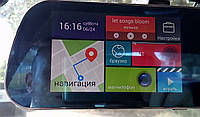"Зеркало регистратор, 5"" сенсор, 2 камеры, GPS навигатор, WiFI, 8Gb, Android, видеорегистратор, видеорегистратор недорого, зеркало"