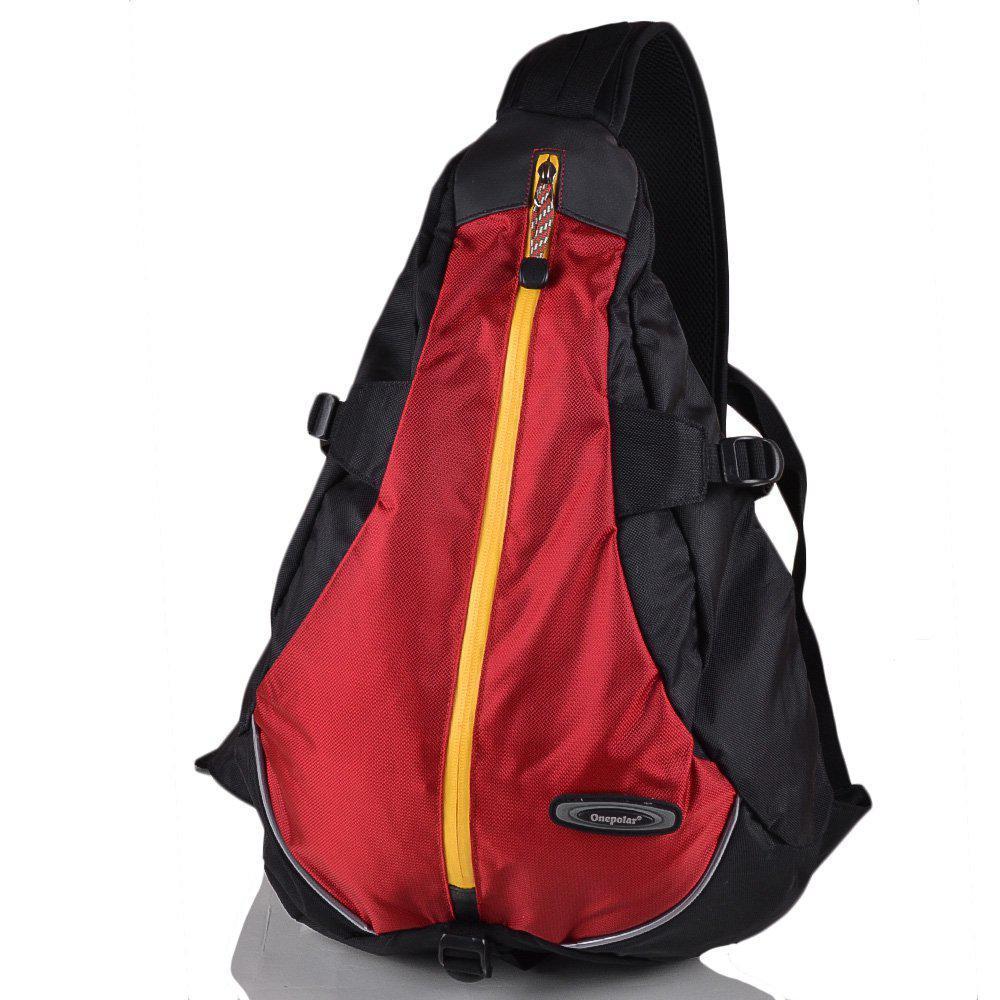 57b54c99e489 Мужской городской спортивный рюкзак черно красного цвета Onepolar W1305-red,  20 л - imida