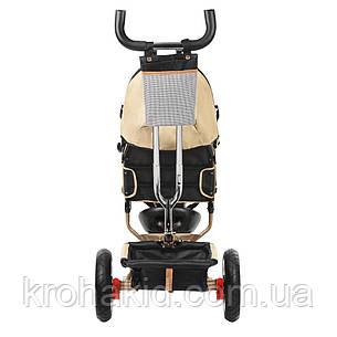 Трехколесный велосипед Turbotrike M 3115-7HA (бежевый) на надувных колесах с игровой панелью, фото 2
