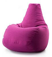Крісло мішок груша мікро-рогожка 90*130 см Малиновий