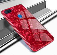 TPU+Glass чехол для Xiaomi Mi 8 Lite Мрамор (4 Цвета)