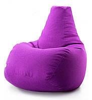 Крісло мішок груша мікро-рогожка 90*130 см Фіолетовий, фото 1