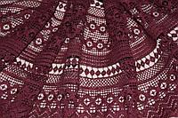Ткань макраме, бордо. (направление рисунка по долевой) 1,32 см, фото 1