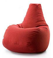 Кресло мешок груша микро-рогожка 100*140 см Красный, фото 1