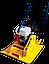 Віброплита Wiber UGMS-27 + Транспортувальні колеса, фото 2