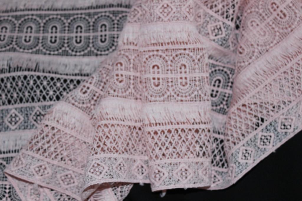 Ткань макраме, пудра. (направление рисунка по долевой) 1,32 см, фото 1