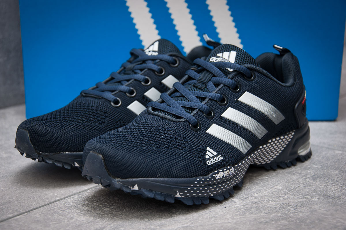 Кроссовки женские  в стиле Adidas SonicBoost, темно-синие (13341) [  36 39  ]