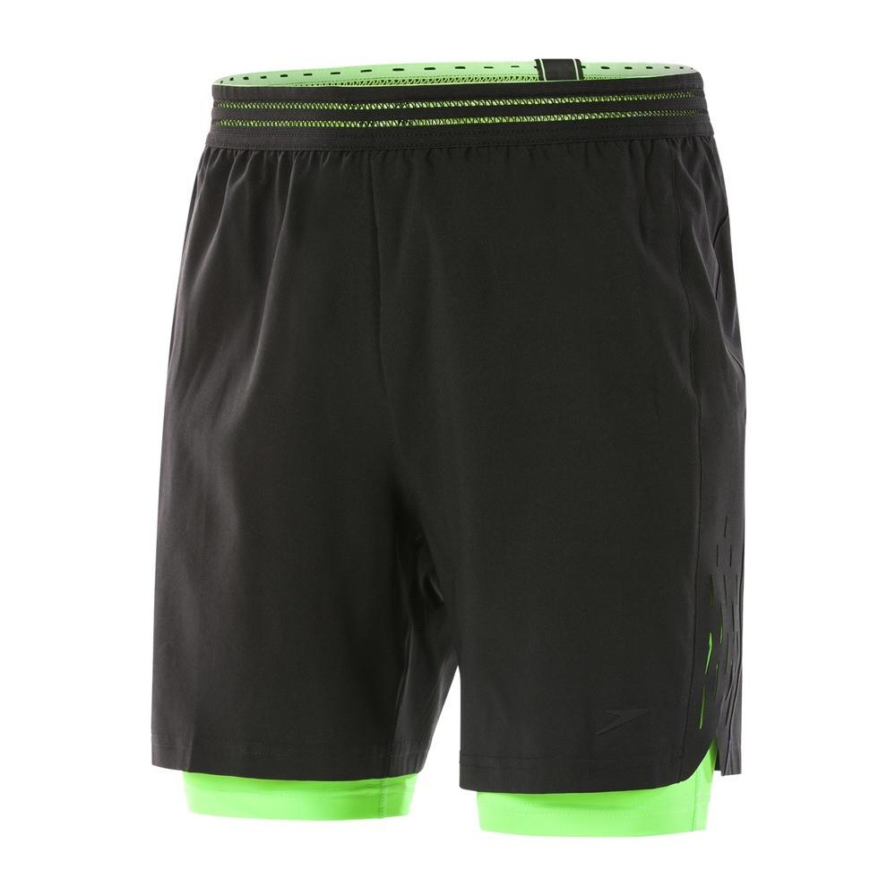 Плавки Speedo reflectwave flex 2in-1 ws am black/green (MD)