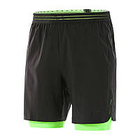 Плавки Speedo reflectwave flex 2in-1 ws am black/green (MD), фото 1