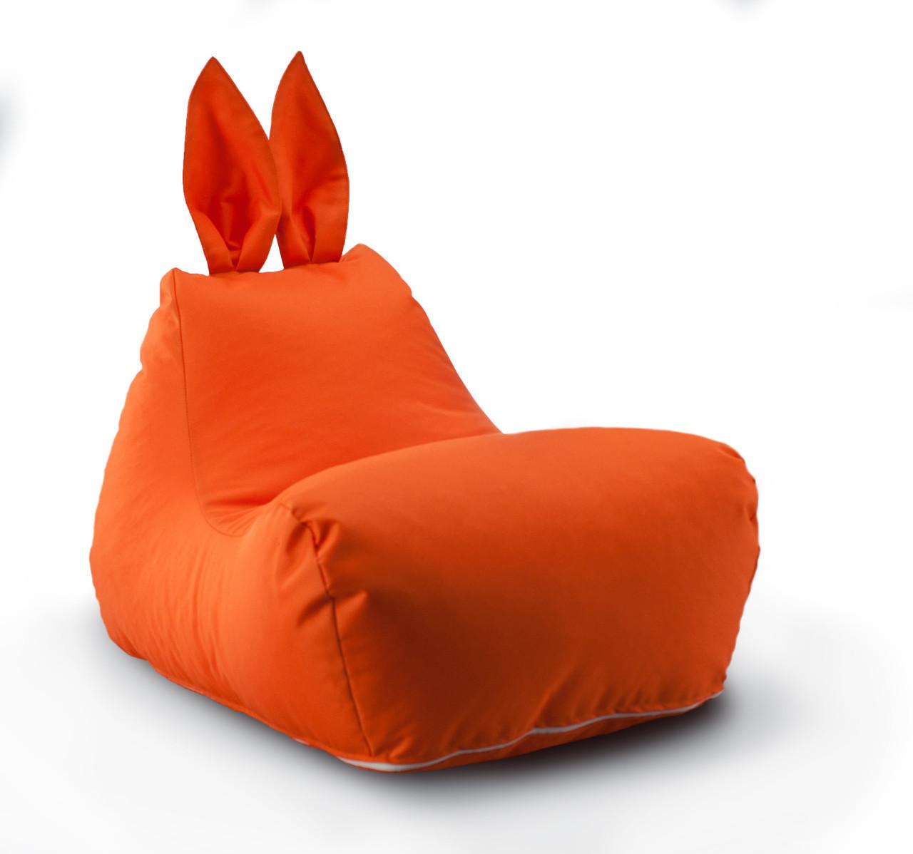 Крісло мішок Зайчик колір Помаранчевий 600 D PU 70*50*45 см