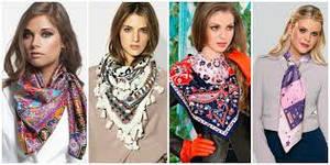 Модный платок на шею 2015