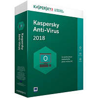 Антивирус Kaspersky Anti-Virus 2018 2 ПК 1 год Base Box (DVD-Box) (5060486858125)