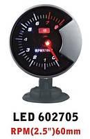 602705 LED Тахометр на ніжці стрілочний діам. 60мм.black у корпусі