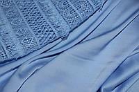 Голубой необыкновенный.Ткань шелк армани (плотный цвет), фото 1
