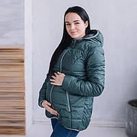 """Демисезонная Слингокуртка """"Хаки"""" 3 в 1 Куртка + для беременных + слингокомплект L & C M S L"""