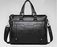 Стильная деловая сумка-портфель KANGAROO (под формат А4). Сумка для документов, сумка-портфель через плечо.