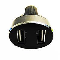 Автомобільний зарядний пристрій Hoco Z26 2 USB Black