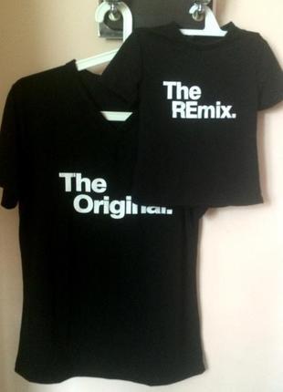 Парные футболки для папы и сына