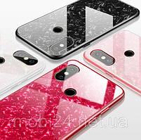 TPU+Glass чехол для Xiaomi Mi 8 Мрамор (4 Цвета)