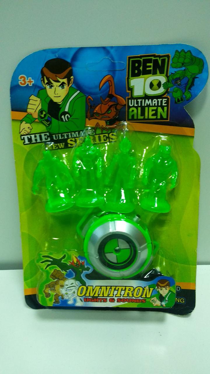 Игровой набор часы Бен 10 Омнитрикс свет, звук и 4 фигурки пришельцев - Ben 10, Alien, Omnitrix, Bandai